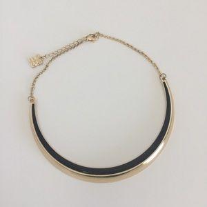 BCBGMAXAZRIA Gold/Black Crescent Necklace
